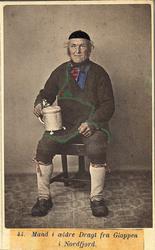 44. Mand i ældre Dragt fra Gloppen, Nordfjord.