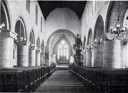 Kirkeinteriør, Stavanger domkirke, Stavanger, Rogaland.