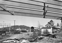 Serie. Bygging av broen over Asker stasjon (E18), Asker, Ake