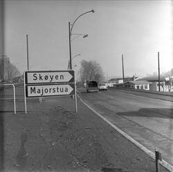 Vei og veiskilt. Oslo 25.10.195.