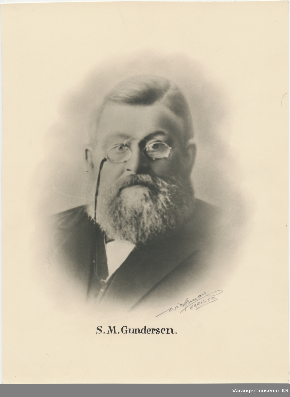 Portrett, Sivert Magnus Gundersen Bakermester,  redaktør,  ordfører,  postfører,  bankdirektør