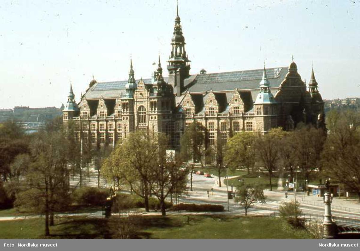 Utsikt. Nordiska museets byggnad.