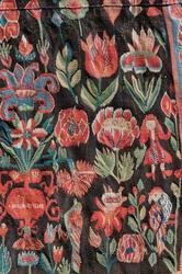 Täcke vävt omkring 1780 av systrarna Elna och Karna Persdott