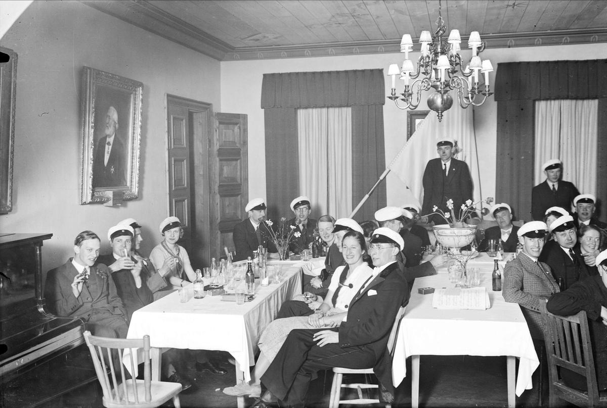 Recentiorsgask på Gotlands studentnation, Östra Ågatan, Uppsala hösten 1935