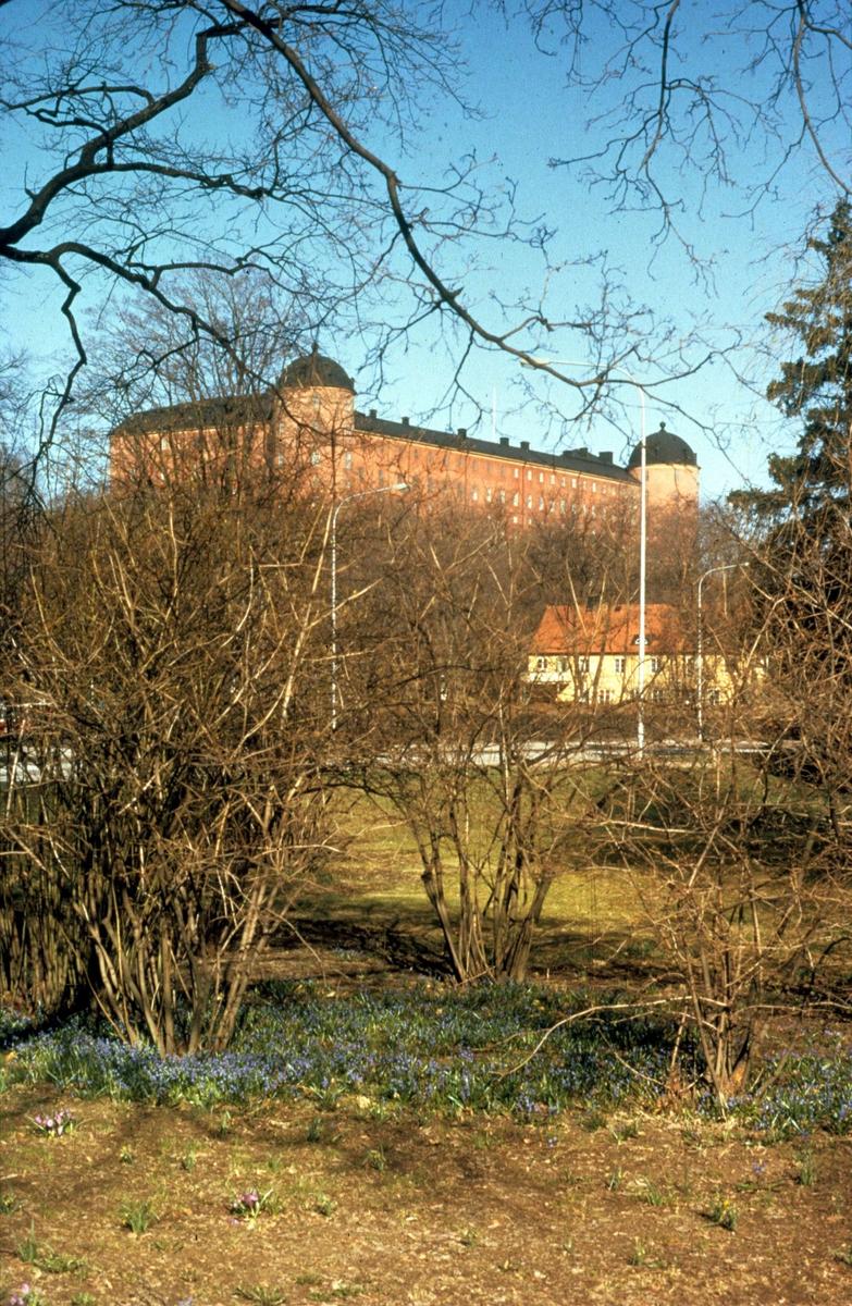 Uppsala slott från Stadsträdgården, Uppsala 1975
