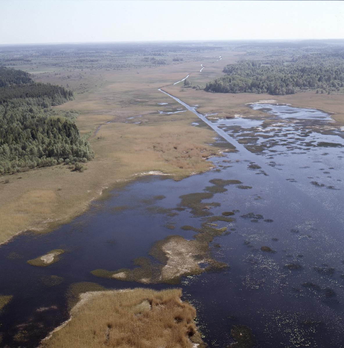 Vy över Dannemorasjön, Dannemora socken, Uppland, juni 1989