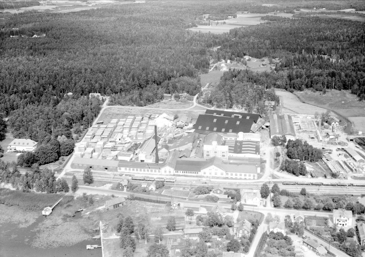 Vy över Morgongåva med AB Westeråsmaskiners lokaler