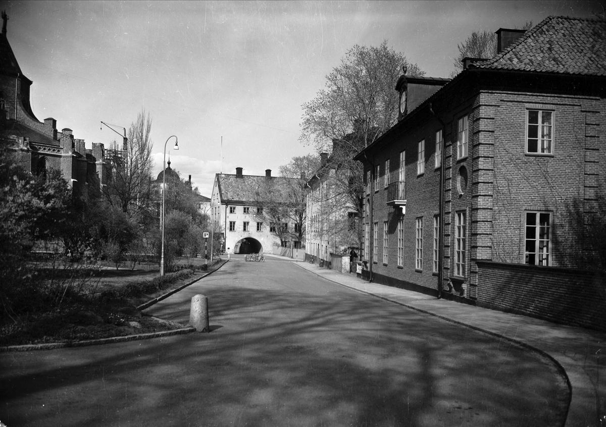 Skytteanum samt Riddartorget med Värmlands studentnation och Oxenstiernska huset, Fjärdingen, Uppsala