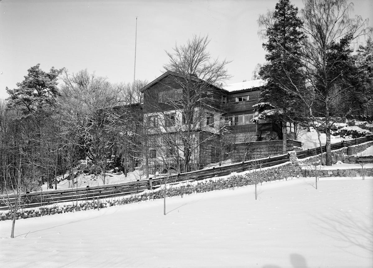 Byggmästaren Anders Diös villa, Vårdsätravägen, kvarteret Aspen, Graneberg, Sunnersta, Uppsala 1935