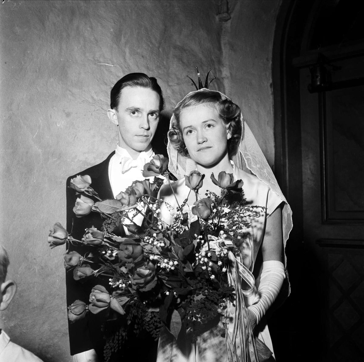 Bröllop - brudpar 1953