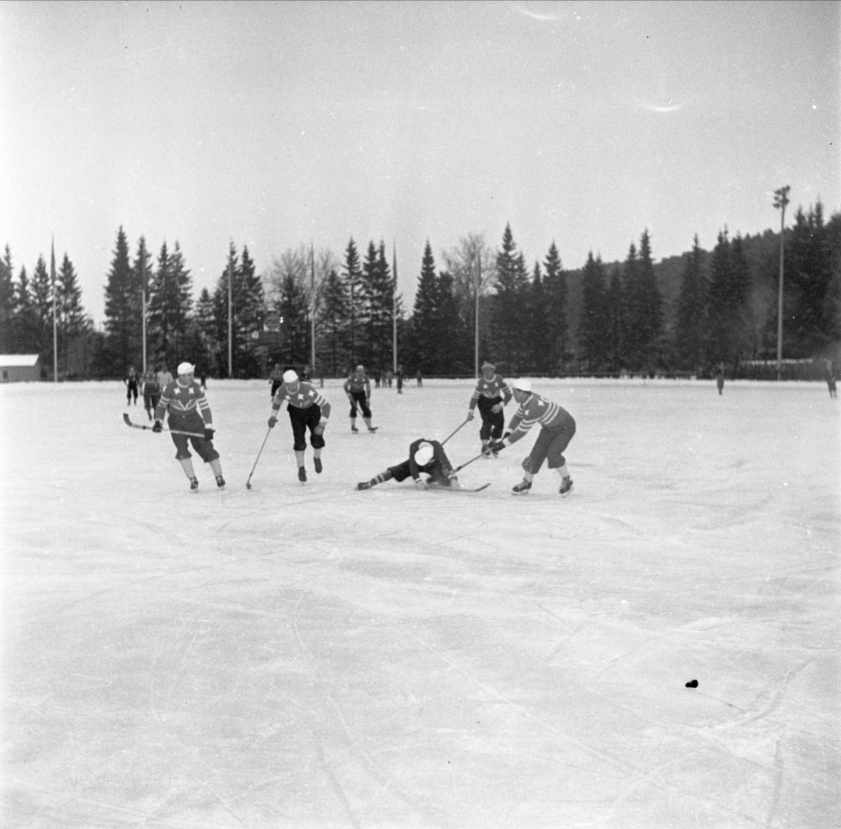 Bandy - IF Vesta - Skutskärs IF på Studenternas Idrottsplats, Uppsala 1948