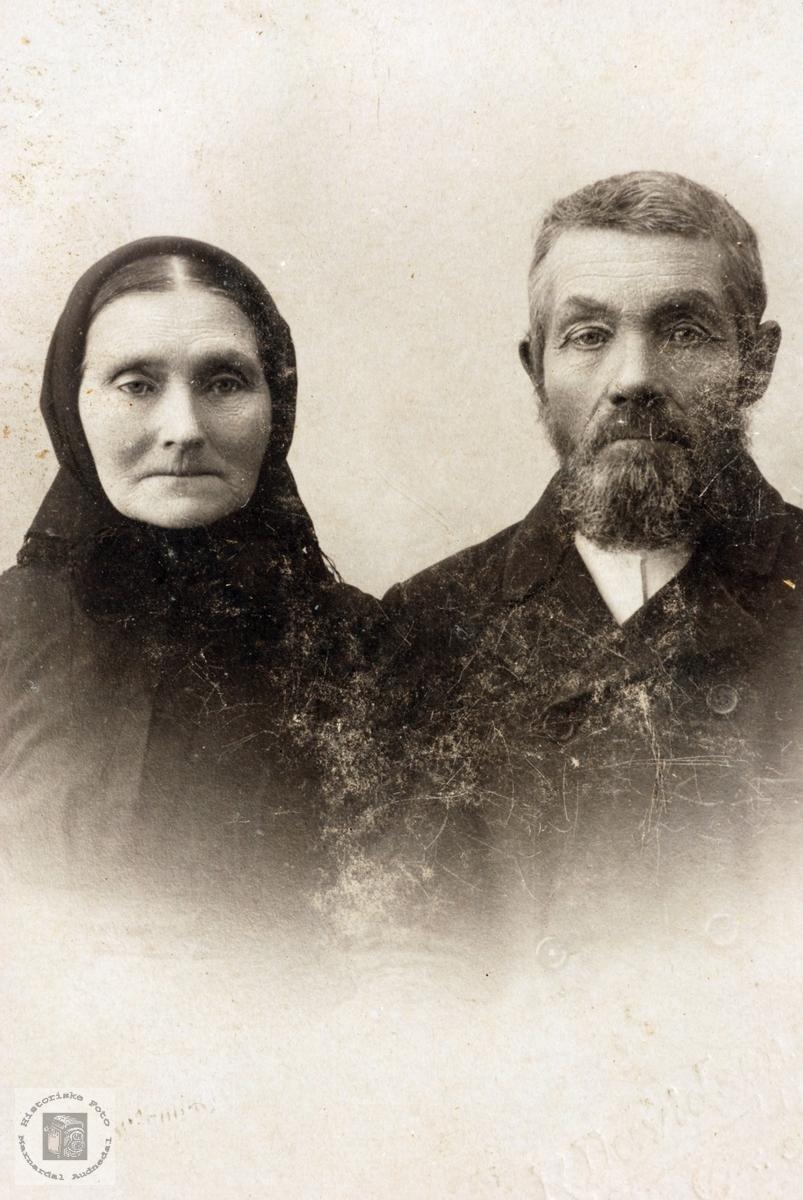 Portrett av Guri og Peder Roland, Bjelland Marnardal.