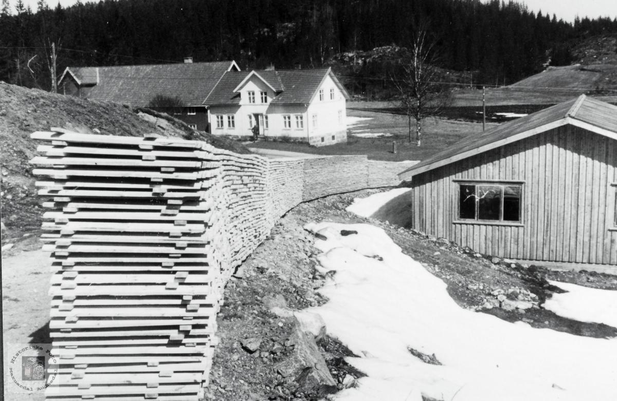 Bilde av gården Vollan på Leland og stavlag. Grindheim Audnedal.