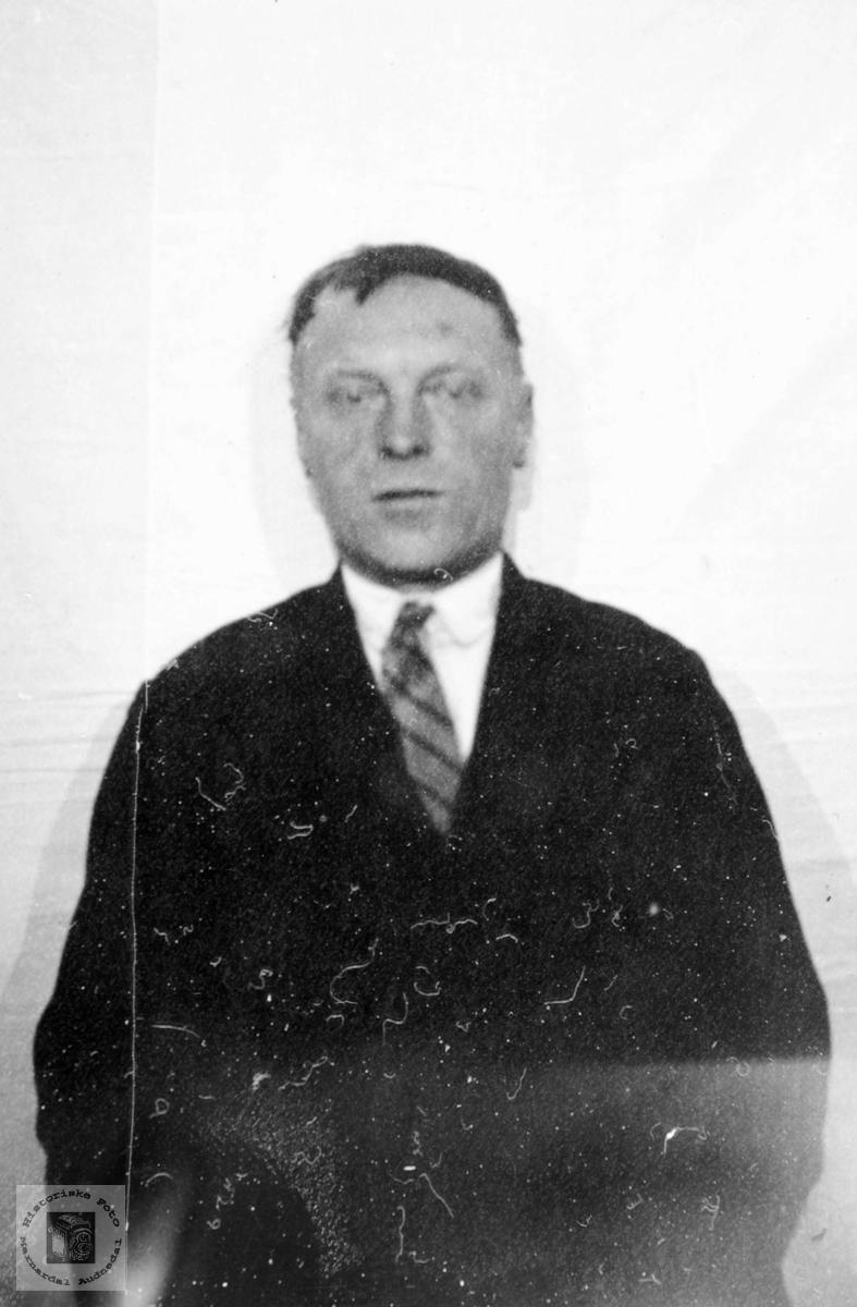 Portrett av Torjus Hårtveit. Grindheim Audnedal.