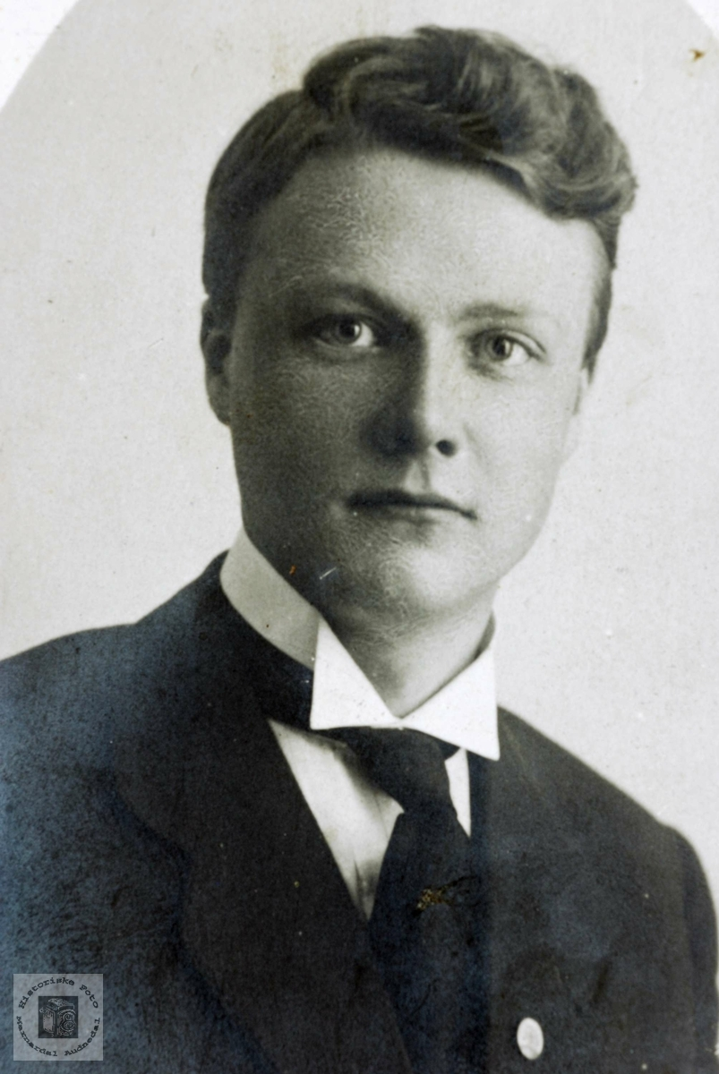 Portrett av Knut Flottorp. Grindheim Audnedal.
