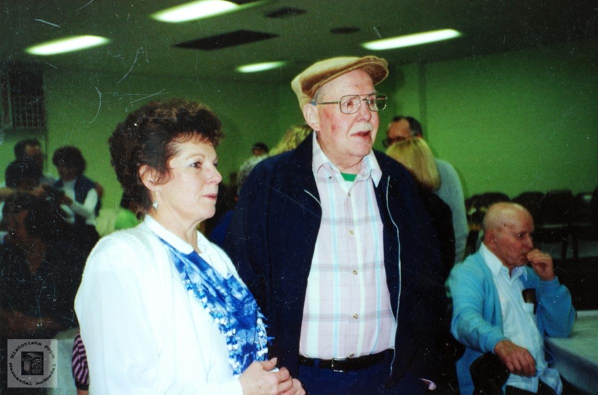 Far og datter i USA med røtter på Håland i Grindheim. Audnedal.