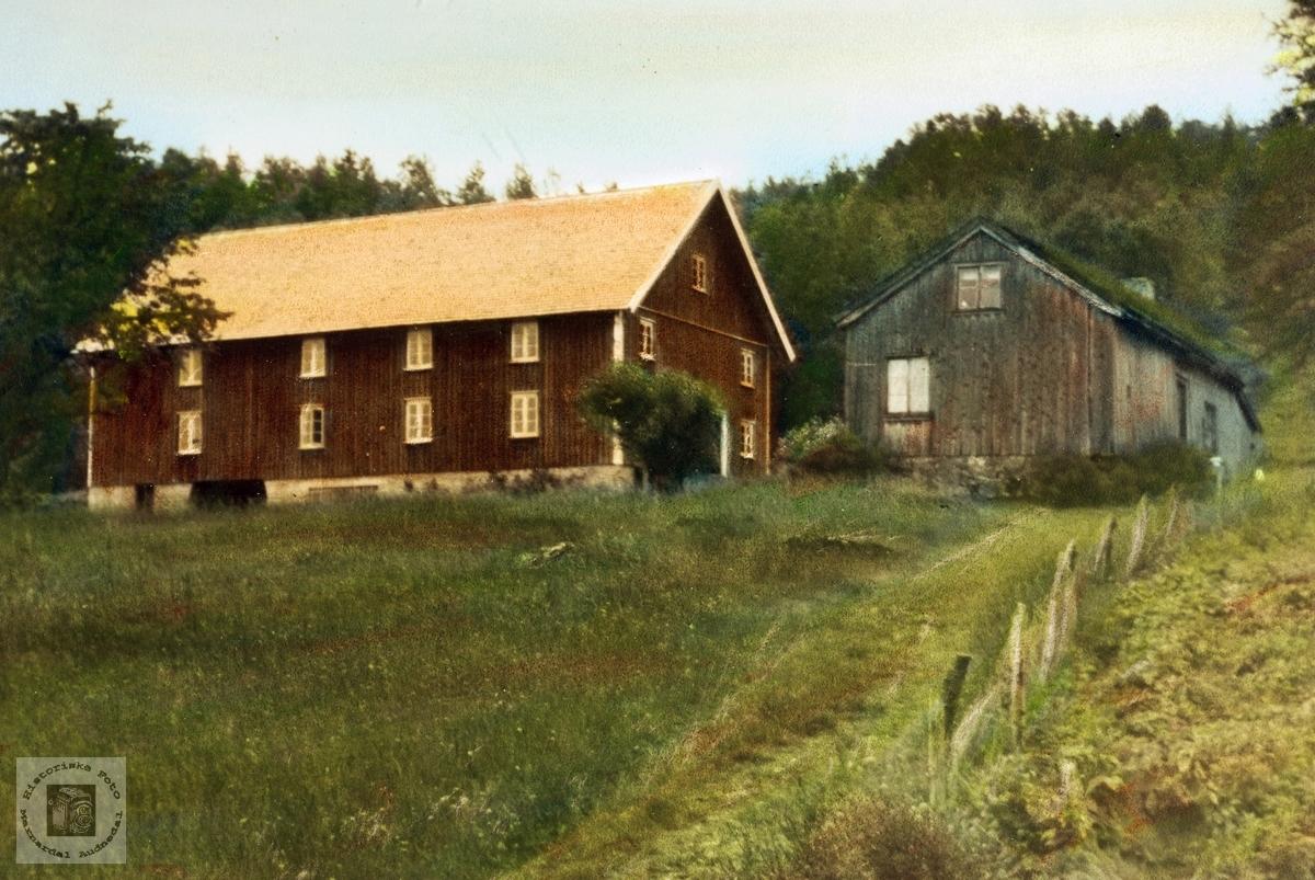 Gården Der oppe på Iveland. Audnedal.