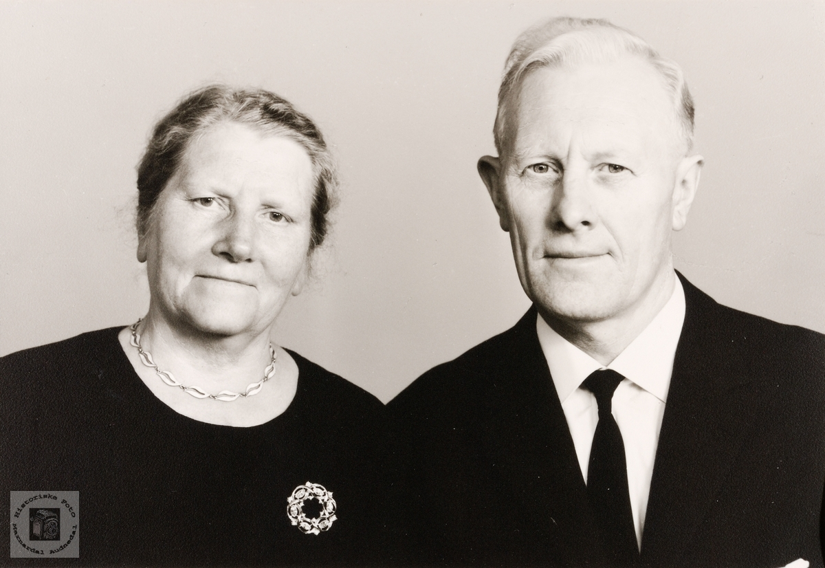 Portrett av ekteparet Guri og Tomas Egebø. Konsmo.