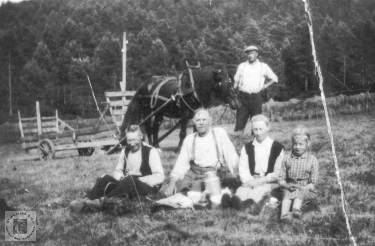 Matpause i Slåtten, Roland i Bjelland.