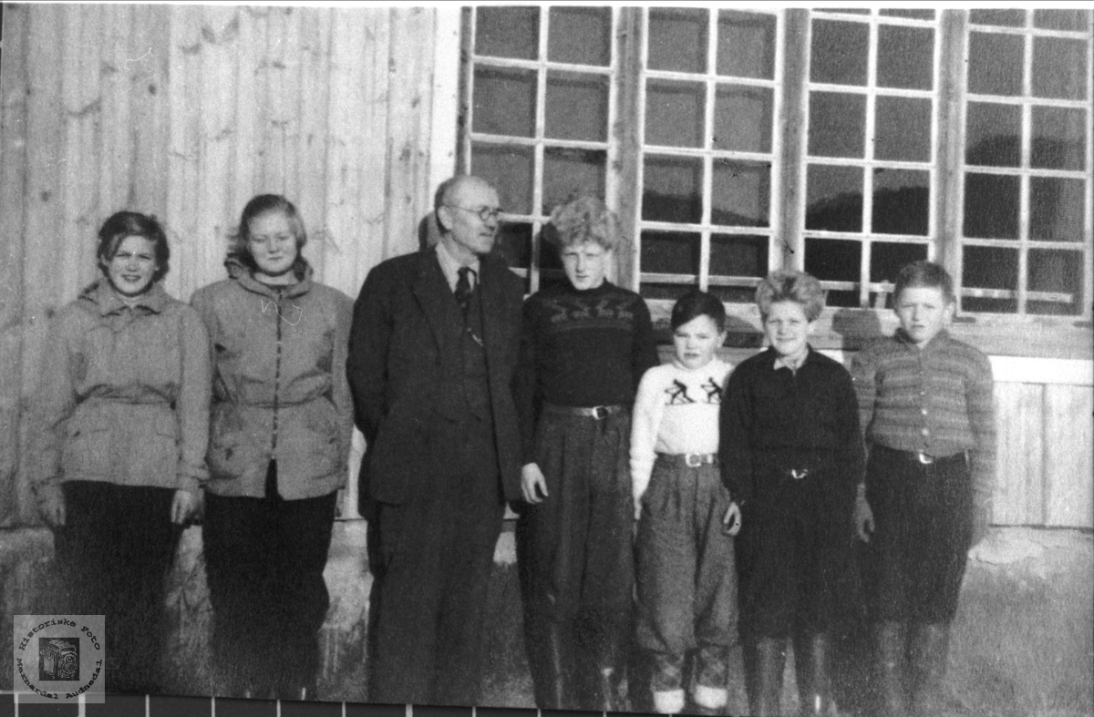 Elever ved Trygsland skule. Bjelland.
