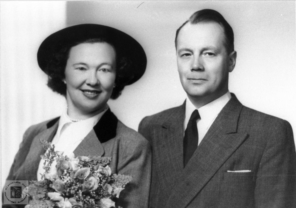 Brudebilde av Astrid og Torbjørn Bjerland, Bjelland.