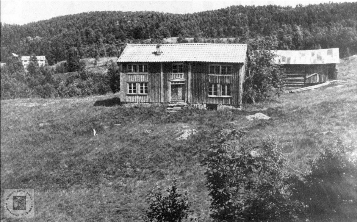 """Heimegarden """"Skogen"""" i Grndheim. Kommunal møteplass for Grindheim og Bjelland. (1864-1902)."""