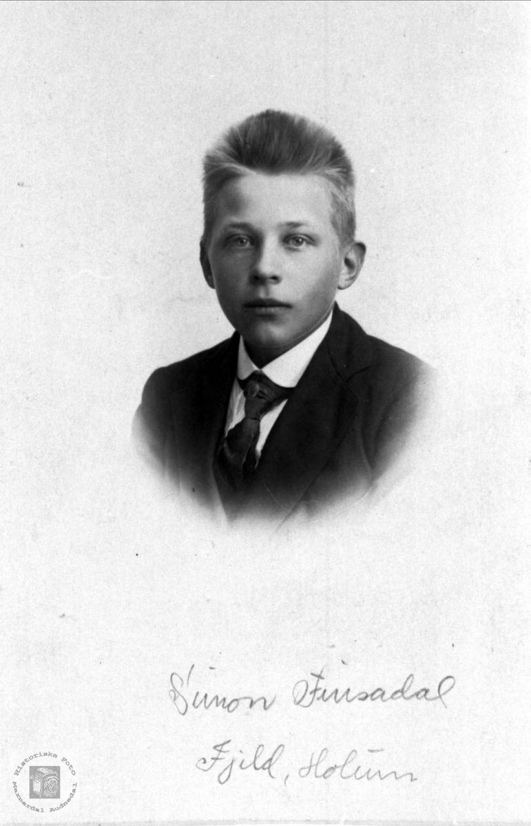 Portrett av Simon Finsådal, Øyslebø.