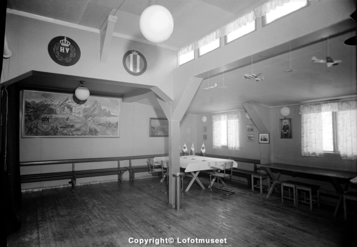 Heimevernsbrakka på Storøya i Svolvær.
