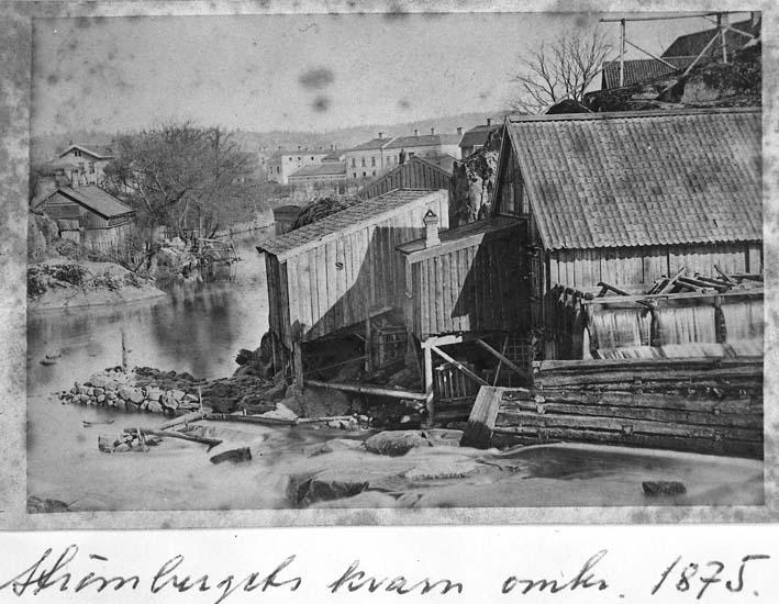 """Text på kortet: """"Strömbergets kvarn omkr 1875""""."""