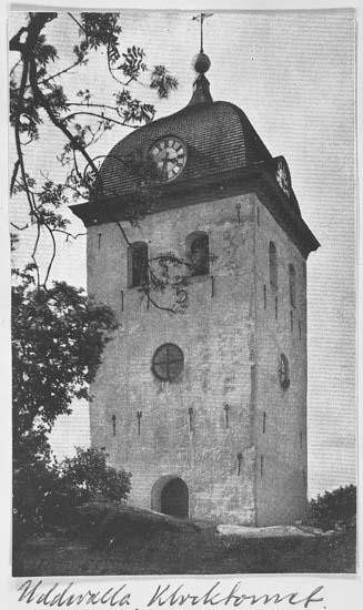 """Text på kortet: """"Uddevalla Klocktornet""""."""