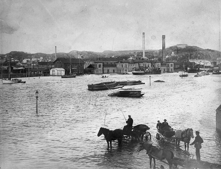Översvämning i Uddevalla år 1911