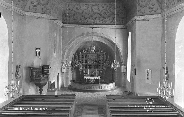 """Enligt AB Flygtrafik Bengtsfors: """"Skee kyrka int. Bohuslän""""."""