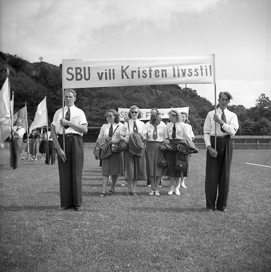 """Enligt notering: """"Blåbandistkonferens 26/6 1949""""."""