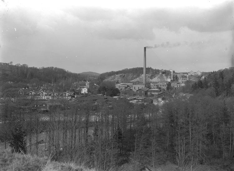 """Enligt fotografens noteringar: """"Munkedal omkring 1920."""""""