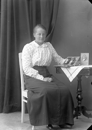 "Enligt fotografens journal nr 3 1916-1917: ""Andersson, Annie Stripplekärr, Ödsmål""."