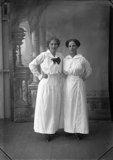 """Enligt fotografens journal Lyckorna 1909-1918: """"Jansson, Fr. Helena Breidablick, Lyckorna""""."""