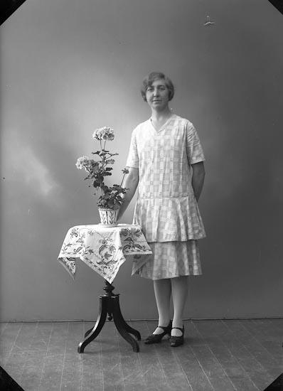 """Enligt fotografens journal nr 5 1923-1929: """"Grundell, Fr. Svea Jörlanda""""."""