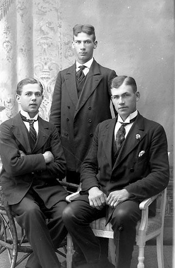 """Enligt fotografens journal Lyckorna 1909-1918: """"Johansson, Johannes, Anfasteröd, Ljungskile""""."""