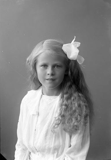 """Enligt fotografens journal nr 4 1918-1922: """"Josefsson, Siv Vestergård Här""""."""