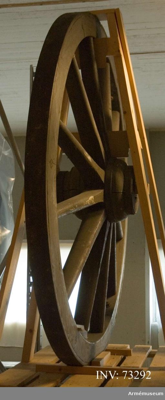 Grupp F.III. Hjul till 12 cm kan m/1879, hjul i reserv. 178x85.