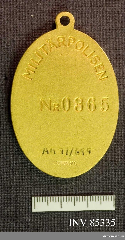 Grupp M II. Polisbricka för militärpolisen  Nr 0865.