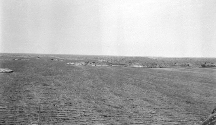 Enligt senare noteringar: Utsikt från Korpåsberget västerut. 14 Augusti 1919.