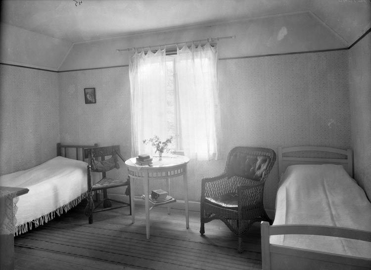 """Uppgift enligt fotografen: """"Uddevalla. Höjentorp Ekudden, interiör, Köllerström."""""""