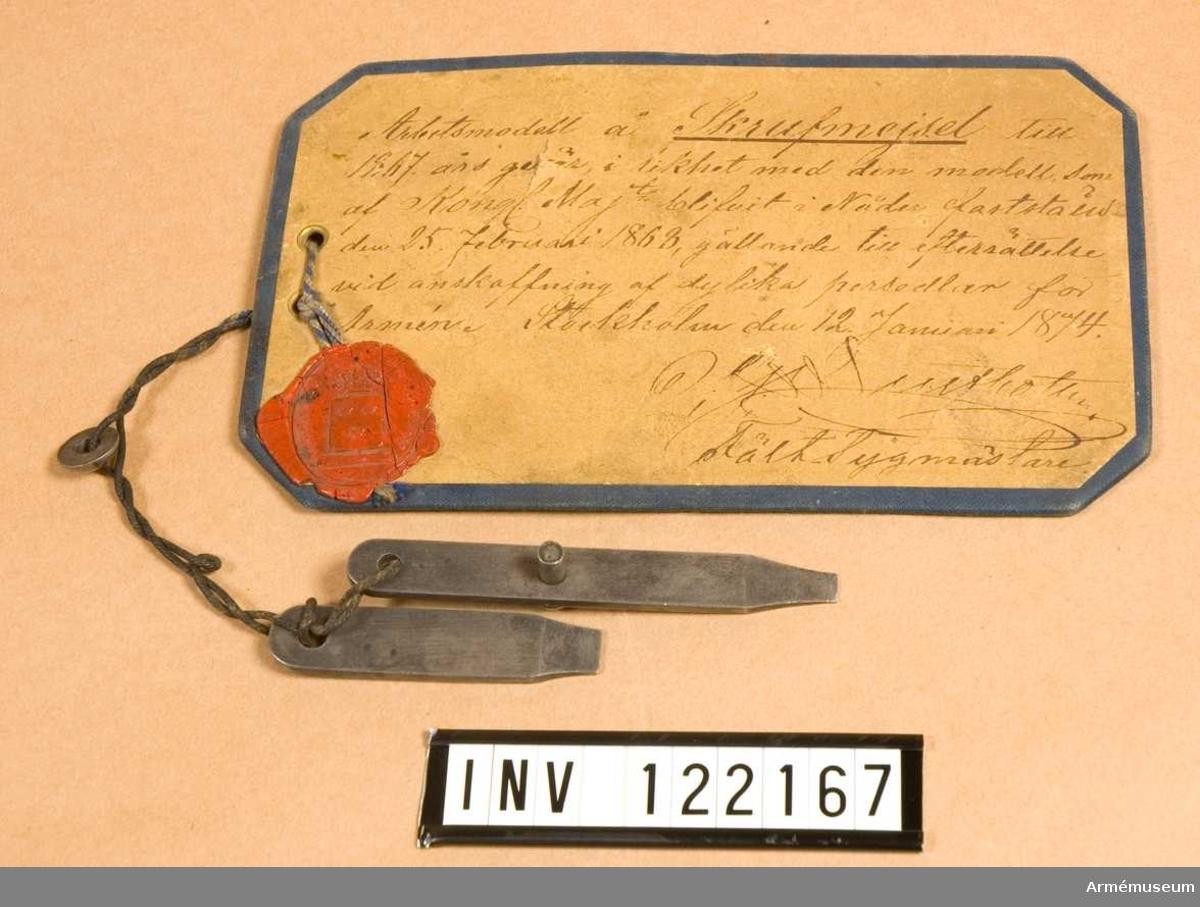 Skruvmejsel m/1868