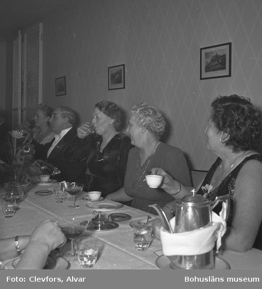 Middag på Hotell Lysekil 1954
