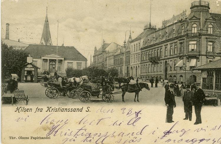 Notering på kortet: Hilsen fra Kristinssand S.