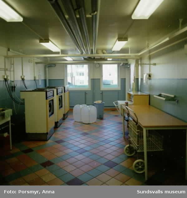 Dokumentation av Mitthems renovering av kvarteret Vetet. De nya entréerna, nya tvättstugorna och uteplatserna.