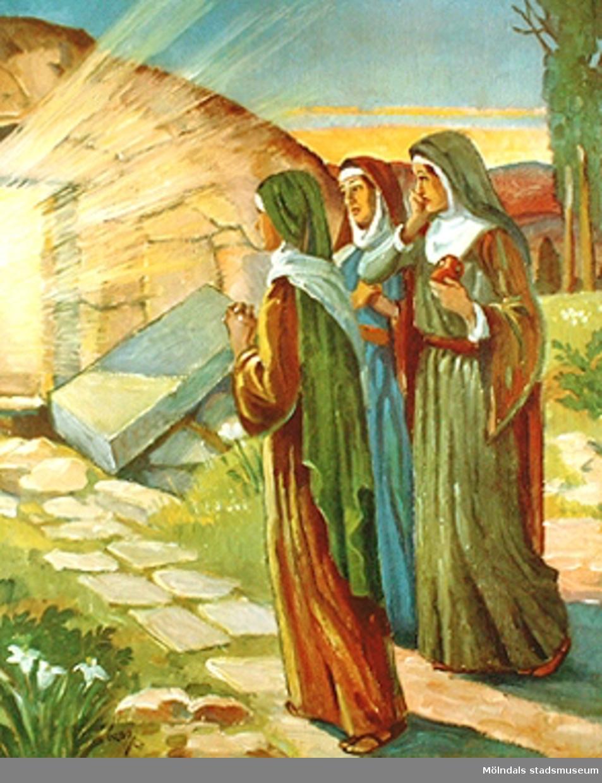 Kristendomskunskap.Jesu uppståndelse. (Mark. 16:1-7).Tryckt 1948 av Viktor Pettersons bokindustri AB, Stockholm.