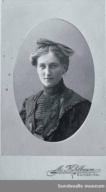 porträtt av okänd ung kvinna
