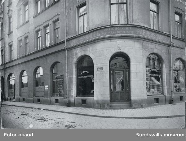 Aktiebolaget Flammén & Westerlund. Tryckeri och Pappershandel på Storgatan 9.